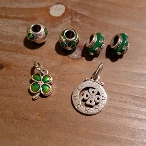 Set of 6 St. Patrick's Day Charms from Brighton